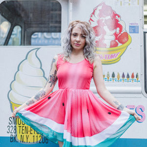 Limited Edition Sheer Ombré WATERMELON Dress